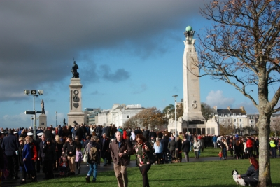 Gathering at the Cenotaph (1)