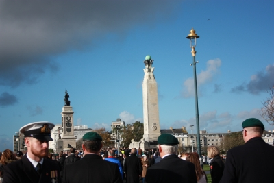 Gathering at the Cenotaph (3)